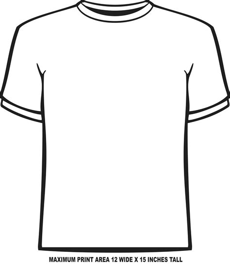 t shirt template front www imgkid com the image kid