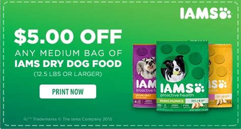 iams food coupons new high value 5 1 iams food 12 5lbs or larger 187 freebies for a cause