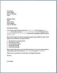 Formal Letter Format Asking For Information College Study Program Information Requesting Letter