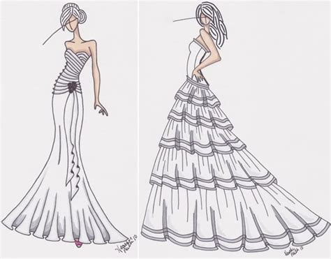 design dress step by step how to draw clothes how to draw dresses step by step