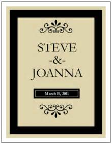 black wine bottle wedding label label templates