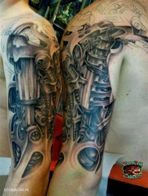 mechanical sleeve tattoo 54 mechanical sleeve tattoos