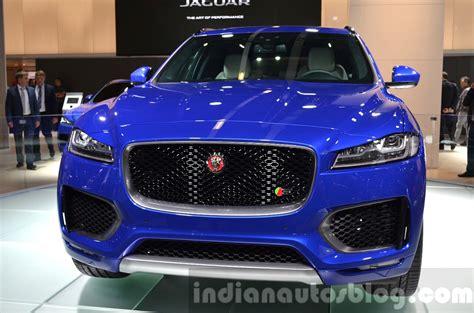 jaguar jeep 2017 jaguar f pace front grille at iaa 2015 indian autos blog