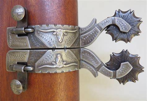 Handmade Spurs For Sale - 9282 new handmade pat castleberry mounted spurs