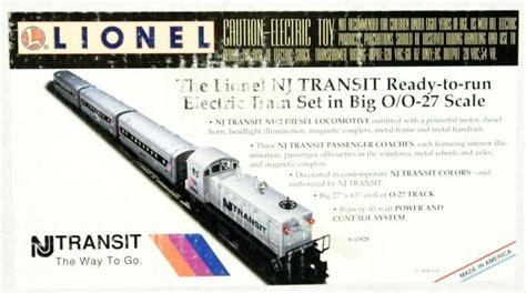30169 new jersey transit ready to run set lionel 6 11828 new jersey transit passenger set