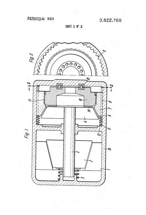 demag motor brake adjustment patent us3822768 cone friction brake patents