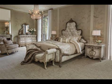 Platine De Royale Bedroom Set In Cream By Michael Amini Seymour Bedroom Furniture