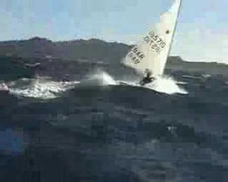 laser boat knots extreme reaching on laser boat 35 knots of wind big