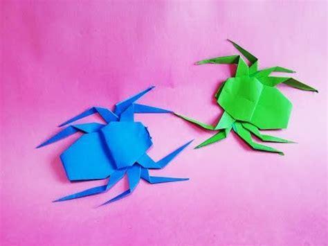 Origami Jumping Spider - 종이접기 장난감 점핑 곤충 소금쟁이 색종이접기 origami jumping 진진종이접기