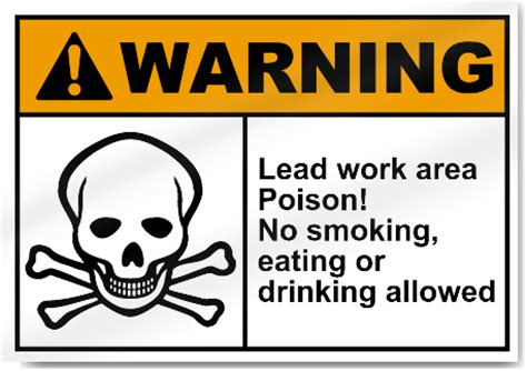 eating and drinking area safety signs signstoyou com lead work area poison no smoking eating or drinking
