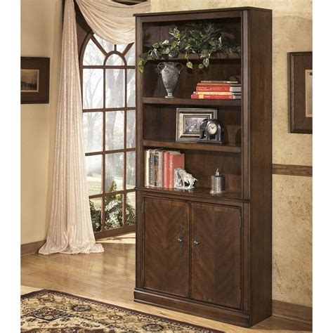 Ashley Furniture Bookcases Ashley Furniture Hamlyn 4 Shelf Bookcase In Medium Brown