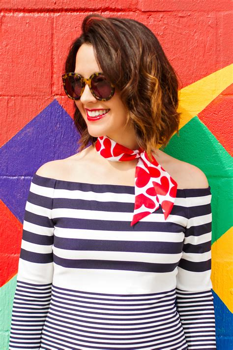 Dress Carrie Denim a classic look of stripes hearts and denim carrie colbert