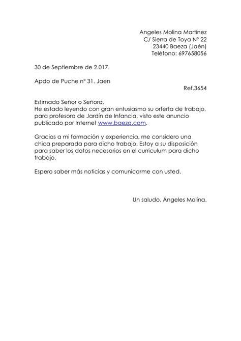 carta formal para vender un producto carta de presentacion angeles