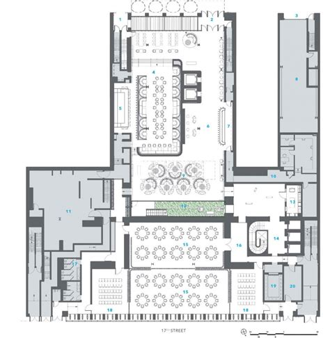 ground floor plan downtown hotel handel architects ground floor plan