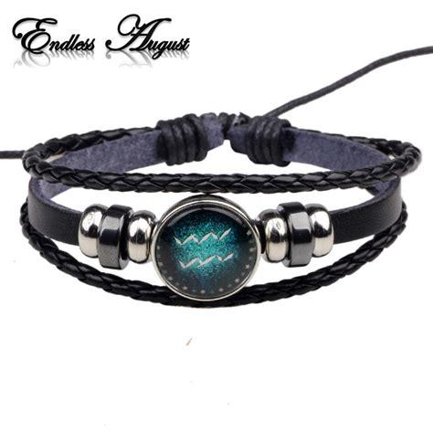 Handmade Bracelets For - fashion buckles 12 zodiac signs bracelets bangles