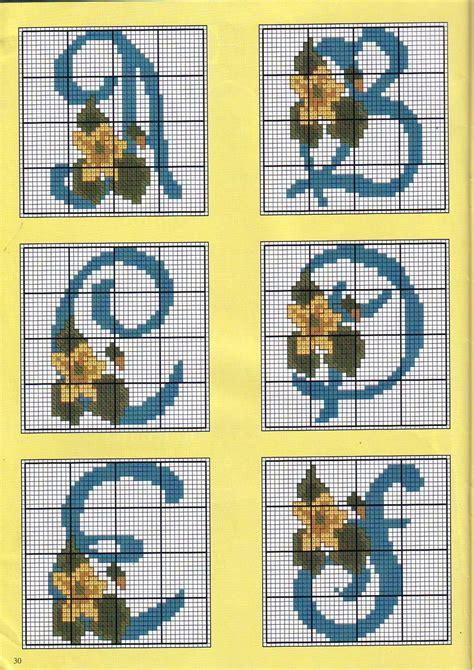 alfabeto con fiori alfabeto con fiori narcisi 1 magiedifilo it punto