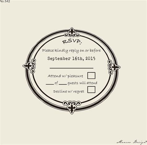 create rubber st free custom rsvp rubber st to create response cards wedding