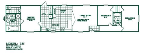 3 bedroom 2 bath mobile home floorplans photos oak creek manufactured homes