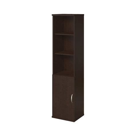 18 Wide Bookcase series c elite mocha cherry wood 18 inch wide 5 shelf bookcase with door free shipping today