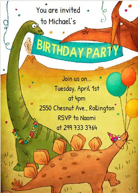 sle invitations for birthday dinosaur invitation templates 28 images best photos of dinosaur birthday invitation