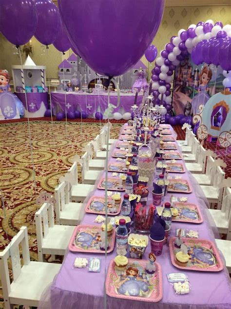 Princess Sofia Decorations by Princess Sofia Birthday Ideas Photo 17 Of 36