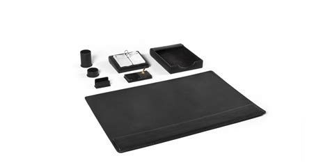 Black Leather Desk Accessories Black Leather Desk Accessories Set Arenson Office