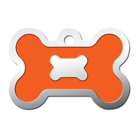 petco tags tag neon orange epoxy bone personalized engraved pet id tag large petco