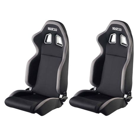 sparco reclining bucket seats 2 x sparco r100 reclining racing car sport bucket seats