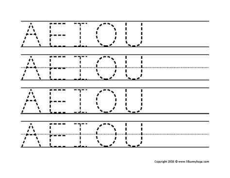 free printable vowel letters free worksheets 187 a e i o u worksheets free math