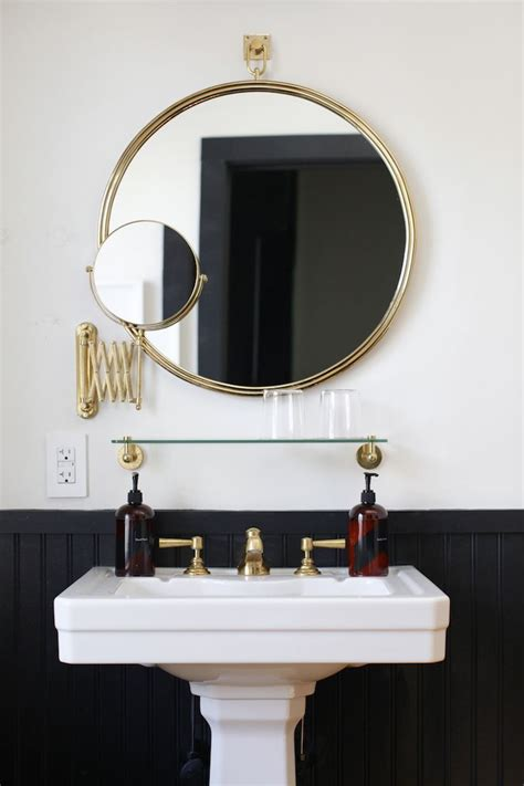 bathroom mirror hardware 17 best ideas about brass bathroom on pinterest brass