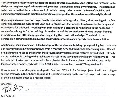letter  recommendation  evstudio architecture