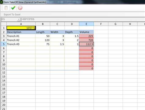 Take Sheet Template by Screenshots Benchmark Estimating Software