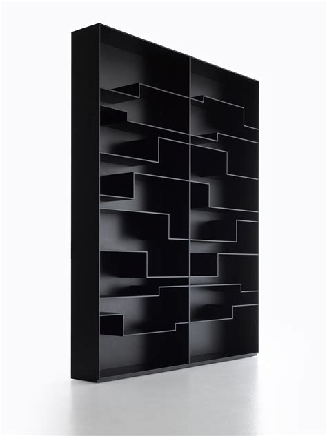 melody bookcase black by mdf italia