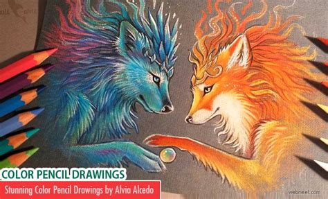color drawings 50 beautiful color pencil drawings from top artists around