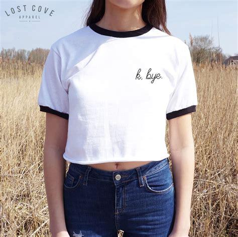 Heboh Sweater Tumbler Simply Ghost k bye crop ringer top shirt grunge pocket fashion
