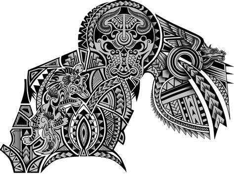 tribal dragon sleeve tattoo 100 polynesian maori tribal half sleeve chest wolf