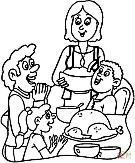 coloring page of thanksgiving dinner turkey dinner coloring page free printable coloring pages