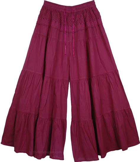 Pant Skirt sequin paisley print cotton palazzo sequin skirts split skirts indian