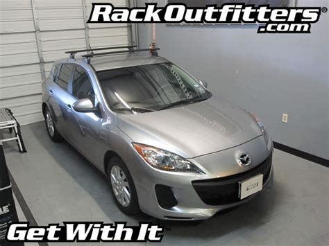 2008 Mazda 3 Roof Rack by Mazda3 Thule 460r Podium Aeroblade Roof Rack With 598