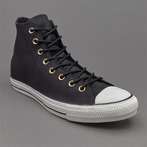 Kaos Cowok Merk Converse Grey Original sepatu sneakers converse chuck all hi leather corduroy black