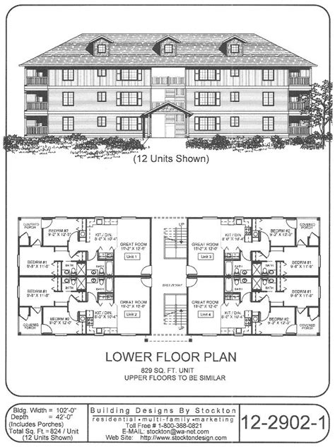 three plex floor plans 12 plex apartment house plan ideas pinterest