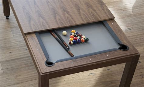 modern wood line pool table design