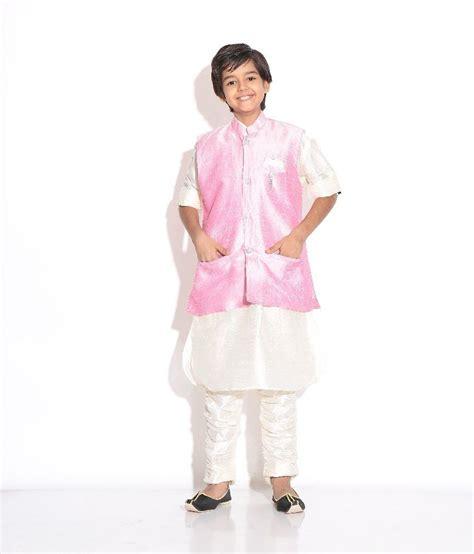 riwaaz cream mehroon color kurta pajama set with jacket riwaaz pink cream color kurta pajama set with jacket for