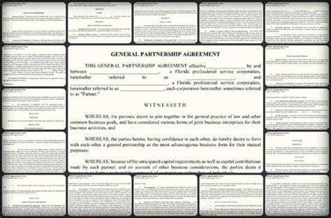 General Partnership Agreement Sle Word Pdf Templates Basic Partnership Agreement Template