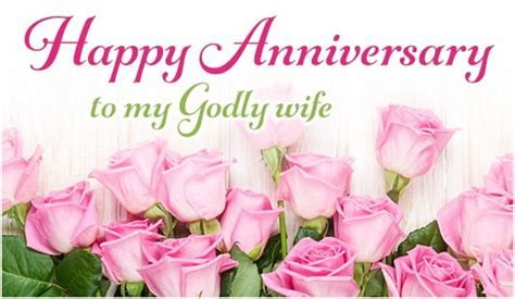 Happy Anniversary to My Godly Wife eCard   Free