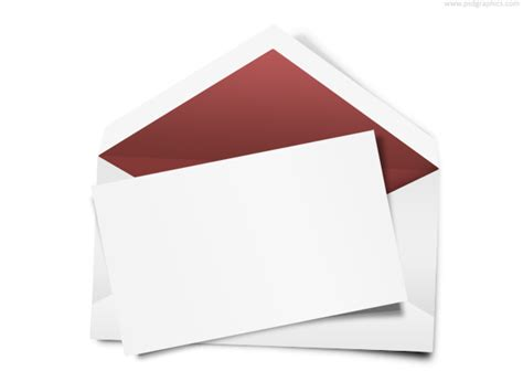 Greeting Card Envelope Template Mailing by Envelope With Blank Note Psd Psdgraphics