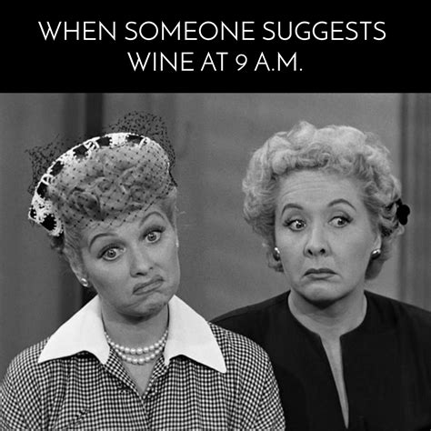 funny  love lucy wine meme   giggles