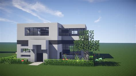 minecraft modern house tutorial minecraft house tutorial how to build a modern house in