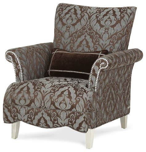 High Back Accent Chair Swank High Back Chair Aqua Contemporary Armchairs And Accent Chairs By