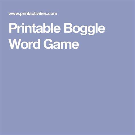printable boggle word games die besten 25 boggle game ideen auf pinterest boggle